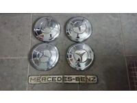 Mercedes chrome hubcaps wheel trims 190 sl 300 sl Gullwing w113 Pagoda w108 109