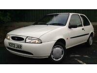 1999 Ford Fiesta Mk4 1.3 Endura 3 door, recent clutch kit clean little car ideal first car