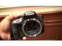 DSLR Cannon 100D + 50mm cannon lense + tripod + memory card + camera bag