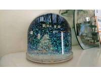 New snow globe large Christmas decoration tree Glittery