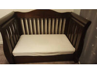 Boori Sleigh Royale Cot/Bed and matching chest of drawers