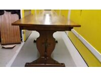 solid oak dining table,genuine Old Charm,length 150cm,width 85cm,made in England!!!