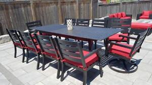 EXPANDABLE TABLE - ALUMINUM TABLE WITH SUNBRELLA CUSHIONS