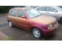 Orange-Gold Nissan Micra for quick sale in Langley, Berkshire