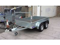 8X4 TWIN WHEEL BUILDERS STYLE TRAILER GALVANISED