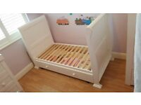 White Childs Sleigh Cot Bed
