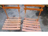 Vintage Metal Chairs x2