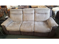 LOVELY PLUSH ELECTRIC RECLINER SOFA FOR SALE