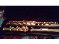 Flute. Gold. In as-new condition. American make. Only played once. £65