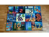 Children's kids' rugs playmats- various - ocean/numbers theme, alphabet theme and United Kingdom map