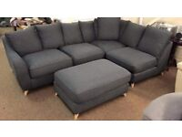 Buoyant grey corner sofa only used for 2 months RRP £1500