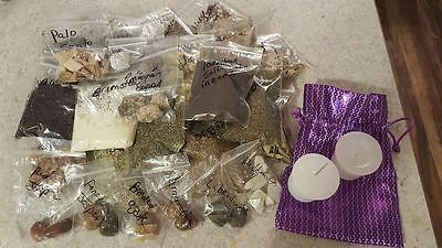 Herb Kit with  Resins Crystals Candle Wiccan Pagan Witch Magic Ritual Offering