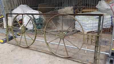 VINTAGE CAST IRON GATE inc CART WHEELS DESIGN