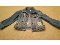 NEXT girls age 3 embroidered denim jacket