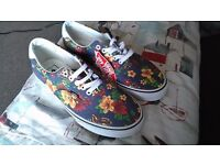 Vans trainers, Flowers, Brand new with tag, size 8