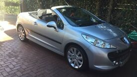 Silver Peugeot 207cc GT Hard top convertible