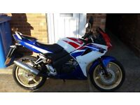 Honda cbr 125r 2009 low mileage, mot until july 2018