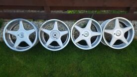 rock B1 17's around J8.5 ET35/ET13 PCD 4X100/4X108 BMW ,VW,FORD,PEUGEOT DRIFT !