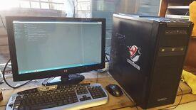 pc desktop gaming setup