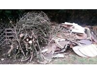 free loads of wood pieces broken up ready to go ideal for bonfire night and tree logs