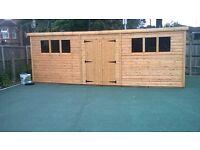 We custom make sheds and summerhouses, any size made