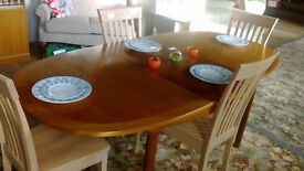 Large Oval Extending Dining Table