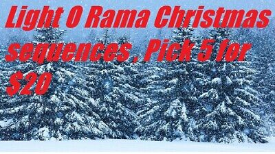 Light O Rama Christmas sequences 48 channel, pick 5 for $20 ()