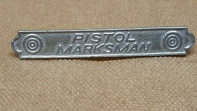 Reproduction WWI US Army, USMC Pistol Marksman Shooting Badge