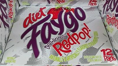 Faygo Diet Red Pop Soda 12 Pack Cans Free Shipping And Tracking Fast Handling