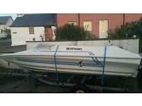 Speedboat fully restored Shakespeare Mustang