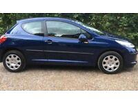 2008-Peugeot 207s 1.4vvt 3-door blue 80k miles long mot bargain price £995