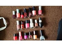 20 X nail varnishes ! most are new !