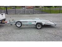Singlewheel transporter trailer ramps led brakes suit rally stock sprint vintage small smart kit car