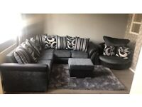 BRAND NEW SHANOON BLACK AND GREY CORNER OR 3+2 SEATER SOFA IN STOCK BUY NOW 🤩