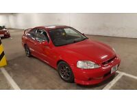 Honda Civic VTI B18C4 EM1 Coupe Milano Red