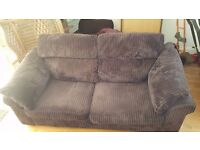 Beautiful brown cord 3 seater sofa, extremely comfortable, will deliver, £120