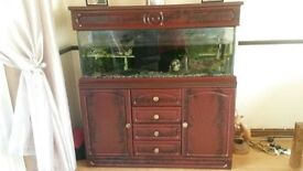 4 foot fish tank and cabinet