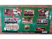 Motorised Christmas Train w Track Northpole Holiday Express 10ft+ of Track