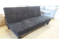 Black fabric sofa bed (delivery available)