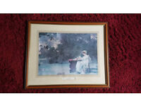 4 Pictures 22/18 inch by Eugene G Laloue and Marcus Stone