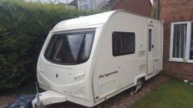 2007 Avondale Argente 390 2 Berth touring caravan with motor mover