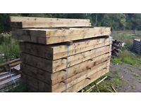 wood timber railway sleepers