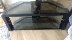 Glass 2 shelf TV stand excedllent condition