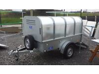 LIVESTOCK TRAILER, HAS REMOVABLE CANOPY - RAMP DOOR available at armagh trailers