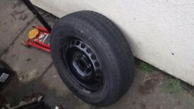 VW 5 stud wheel and tyre 195/65/16 continental new tyre