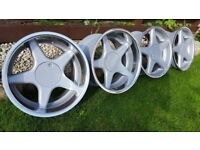 17's wheels Brock Type B1 17s 4X100 J8.5 and J10 ET35 and ET20 BMW E30/E21 VW GOLF,JETTA,CORRADO