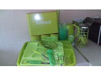 Lime green kitchen appliances