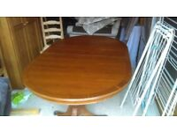 yew wood oval dining table - free local delivery