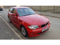 2006 BMW 116i SE 5 door hatchback red, 1 series 118i 120d
