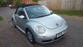 2006 VW BEETLE TDI 1.9 TDI, CONVERTIBLE, METALIC SILVER, ONLY 89K, 5 MONTHS MOT, 2 PREVIOUS OWNERS,